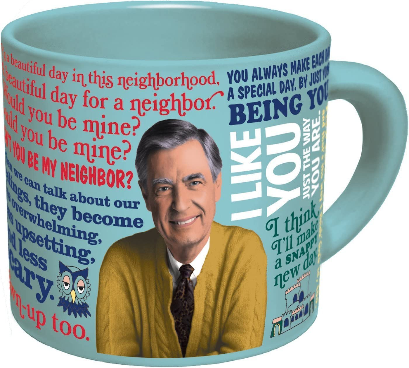 Image for Mister Rogers Heat Changing Coffee Mug - Add Hot Liquid and Watch Mr. Roger's Sweater Change Color - Comes in a Fun Gift Box - by The Unemployed Philosophers Guild
