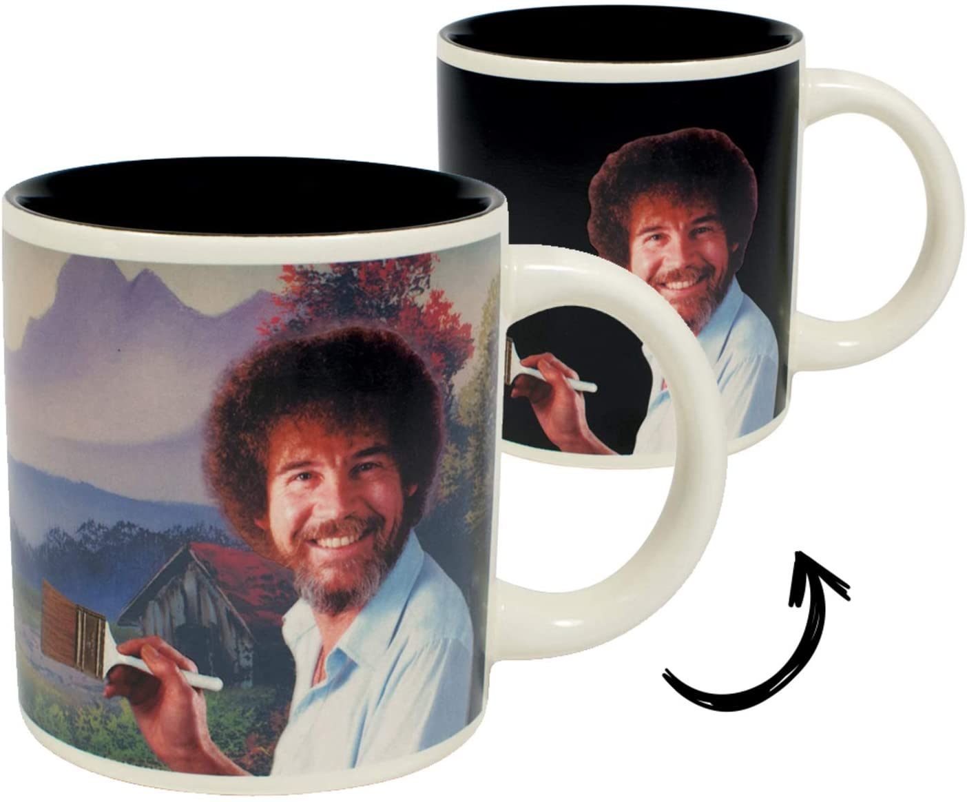 Image for Bob Ross Heat Changing Mug - Add Coffee or Tea and a Happy Little Scene Appears - Comes in a Fun Gift Box