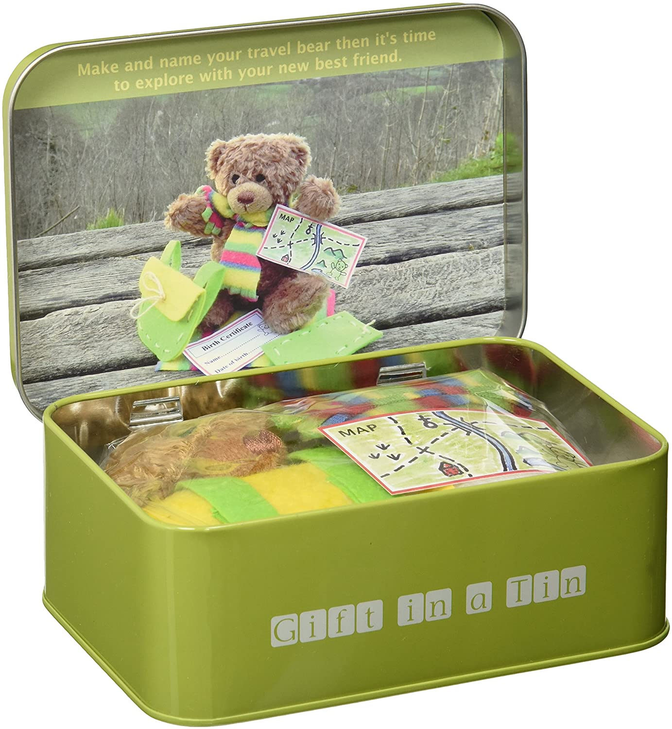Image for Teddy in a Tin - Travel Bear - Gift in a Tin by Apples to Pears